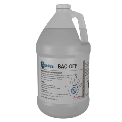 bac off, foam sanitizer