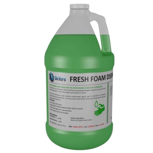 DeVere Fresh Foam Disinfectant Soap, 1 gallon jug