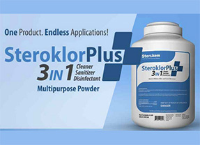 Steroklor Plus 3 in 1 - Sanitier and Cleaner